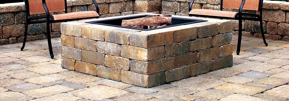 Fire Pit Designs And Installation - Weston Stone Fire Pit Kit - Brick's Landscape