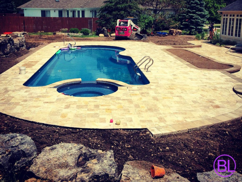 Home brick 39 s landscape for Pool design rochester ny