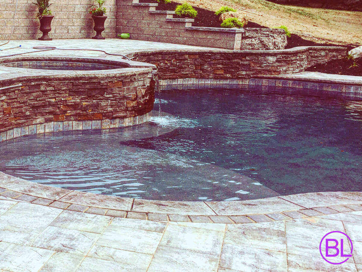 Fountain Inground Pool Construction Services Rochester