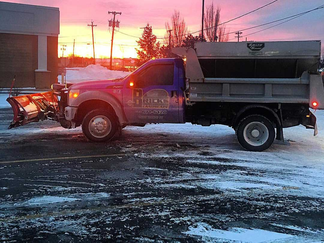 Parking lot salting Rochester NY