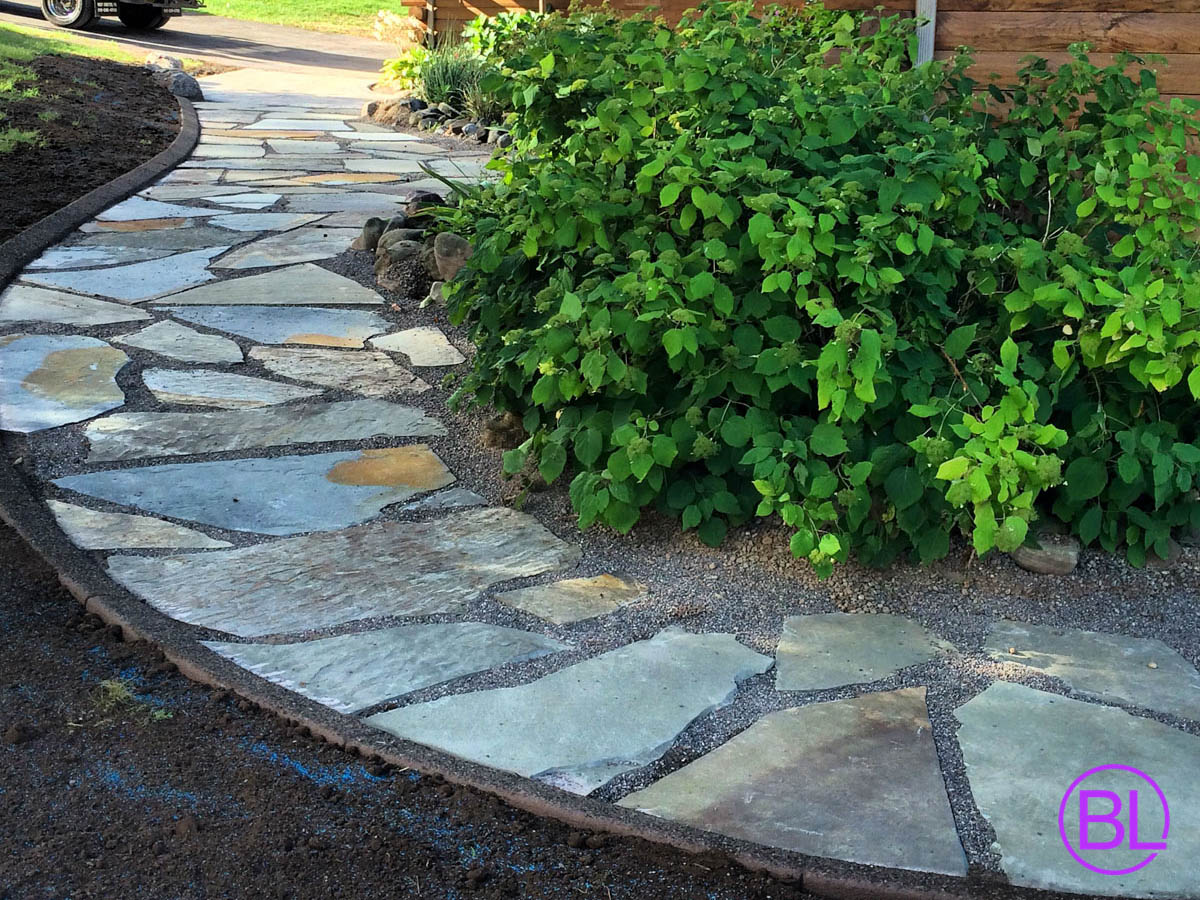 Stone Patio Walkway Designs Rochester